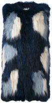 P.A.R.O.S.H. fur vest - women - Cotton/Marmot Fur - S