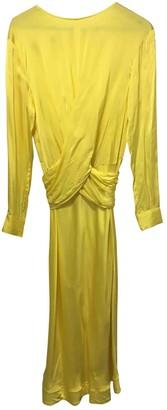 Non Signã© / Unsigned Yellow Viscose Dresses