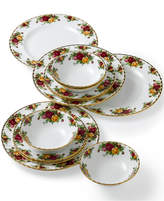 Royal Albert Old Country Roses 12-Piece Dinnerware Set, Created for Macy's