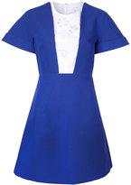 DELPOZO contrast dress - women - Cotton - 40