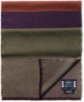 Charles Tyrwhitt Purple Striple Merino Scarf