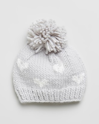 Morgan & Taylor Girl's Grey Beanies - Gabrielle Mini Beanie - Kids - Size One Size at The Iconic