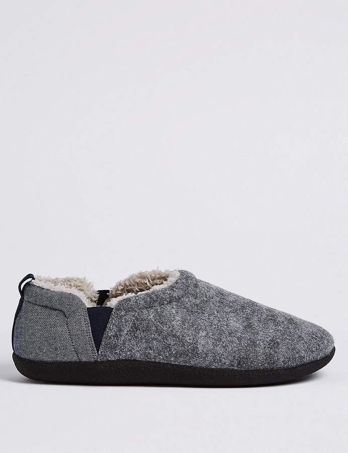 Marks and Spencer Slip-on Slippers with Freshfeet