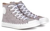 Chloé Kyle high-top suede sneakers