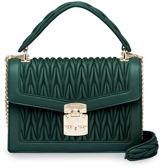 Miu Miu Matelasse Leather Top-Handle Bag