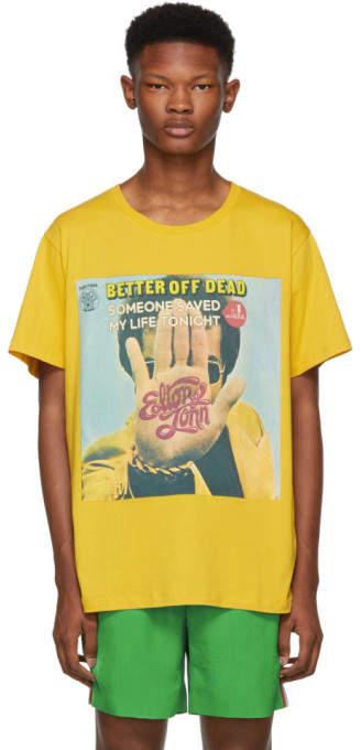 Gucci Yellow Elton John Print T-Shirt