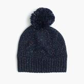 J.Crew Girls' speckled cotton beanie hat