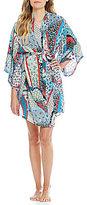Josie Gypsy Belle Patchwork Challis Kimono Wrap Robe