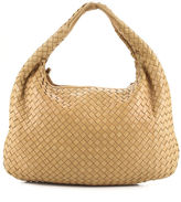 Bottega Veneta Tan Beige Woven Leather Single Strap Hobo Shoulder Handbag EVHB