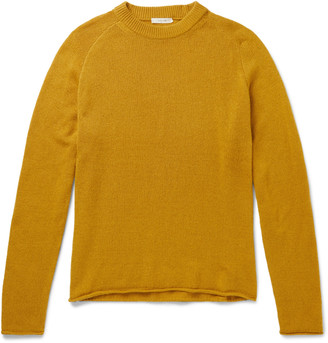 The Row Ulmer Cashmere Sweater - Men - Yellow