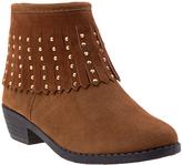 KensieGirl Brown Studded Suede Boot