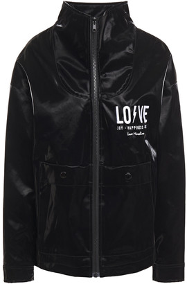 Love Moschino Embroidered Coated-cotton Jacket