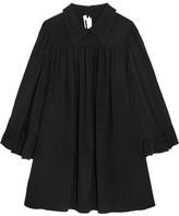 McQ by Alexander McQueen Crepe De Chine Mini Dress - Black