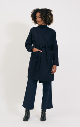 Shio Navy Wrap Jacket - S/M | navy - Navy