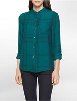 Calvin Klein Plaid Rayon Shirt