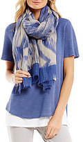 Eileen Fisher Woodgrain Linen & Organic Cotton Scarf