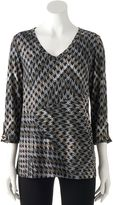 Dana Buchman Women's Seamed V-Neck Top