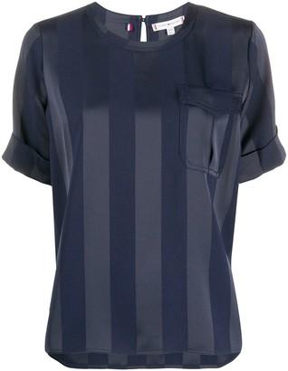 Tommy Hilfiger Striped Short-Sleeved Blouse