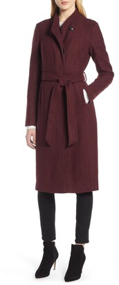 Cole Haan Woven Button Front Coat