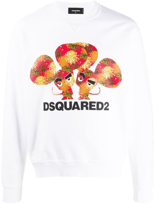 DSQUARED2 Logo Print Cotton Sweater