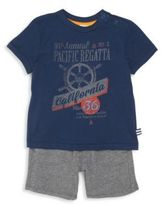Splendid Baby's Two-Piece Graphic Tee & Shorts Set