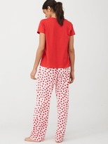 Very Hotel L'amour T-shirt Pyjamas - Heart Print