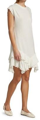 Derek Lam 10 Crosby Jay Ruffle Hem T-Shirt Dress