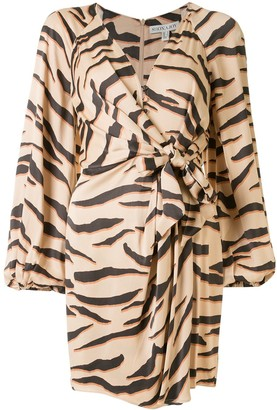 Shona Joy Olson zebra-print dress