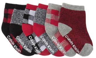 Calvin Klein Buffalo Plaid Sock Set - Pack of 6 (Baby Boys 12-24M)