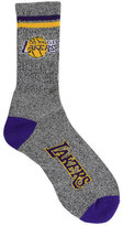 For Bare Feet Los Angeles Lakers Two Stripe Socks