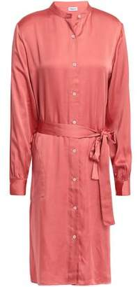 Filippa K Belted Satin Shirt Dress