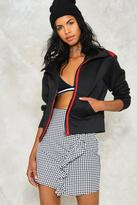 Nasty Gal nastygal Right on Track Zip Jacket
