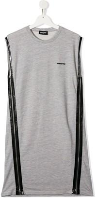 DSQUARED2 TEEN sleeveless jersey dress