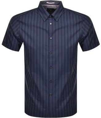 Ted Baker Short Sleeve Handeez Shirt Navy