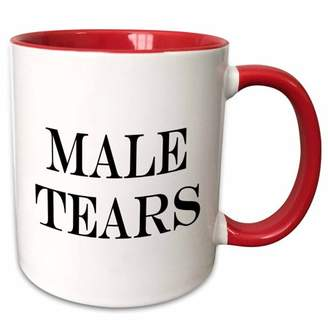 3drose 3dRose Male Tears. - Two Tone Red Mug, 11-ounce