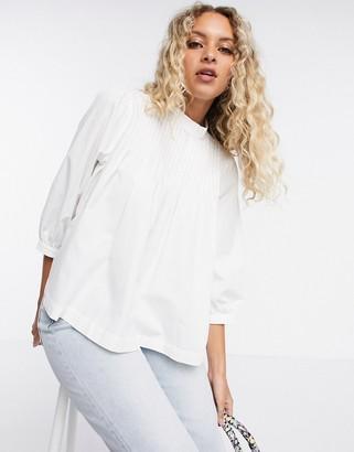 Selected Nova high neck blouse in white