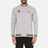 Billionaire Boys Club Men's Vegas Cotton Varsity Jacket Heather Grey