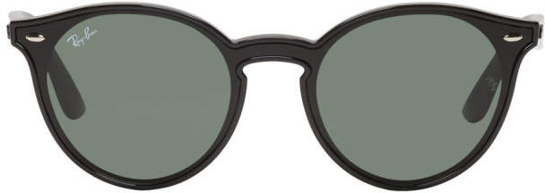 Ray-Ban Black and Green Blaze RB4380N Sunglasses