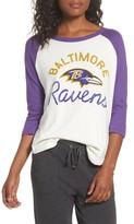 Junk Food Clothing Women's Nfl Baltimore Ravens Raglan Tee