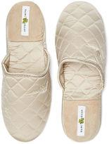 Kumi Kookoon Silk Slippers, Ivory