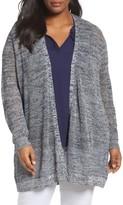 Sejour Plus Size Women's Mesh Stitch Cardigan