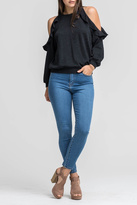 Lush Clothing Ruffle Shoulder Sweatshirt