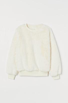 H&M Faux Fur Top - White