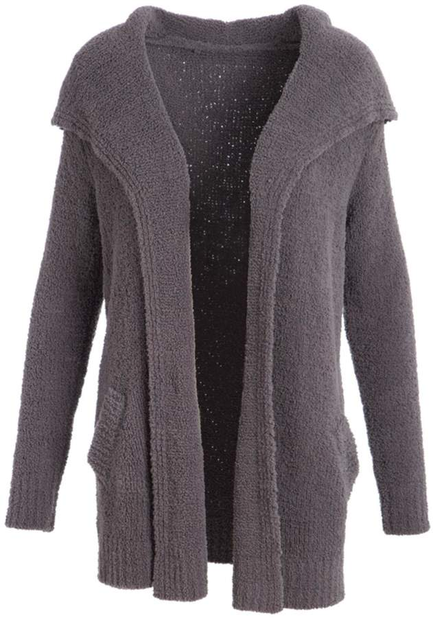 Evergreen Chenille Open Cardigan