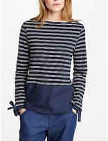 Great Plains Take A Break Jersey Top, Classic Navy/Optic White