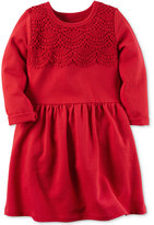 Carter's Embroidered French Terry Dress, Little Girls (2-6X)