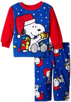 Peanuts Little Boys' Holiday Joy 2 Piece Pajama Set