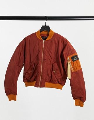 Jordan bomber jacket in tawny brown