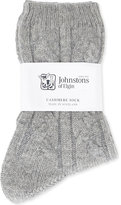 Johnstons Cable-knit cashmere socks