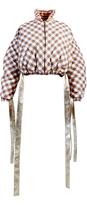 Anouki Plaid Cropped Puffer Jacket